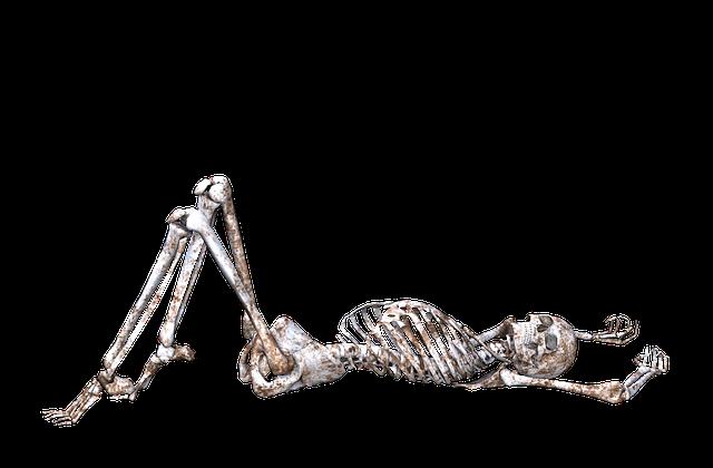 ležící kostra